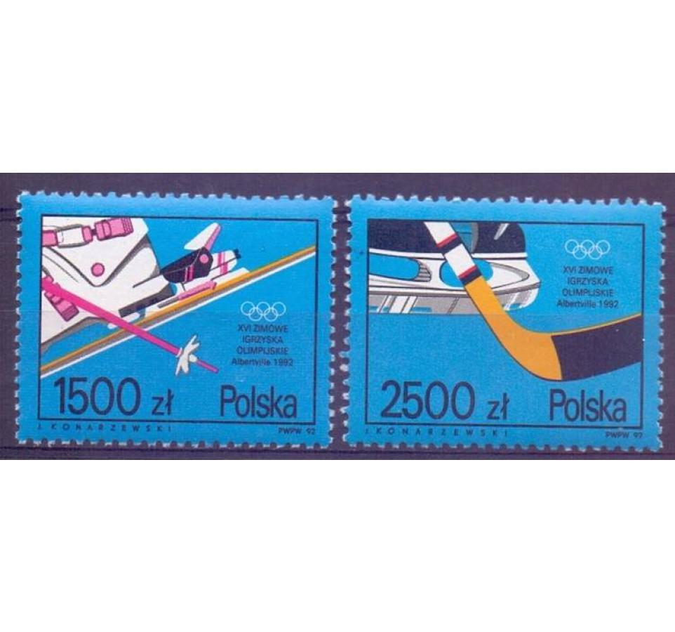 Polska 1992 Mi 3369-3370 Fi 3221-3222 Czyste **