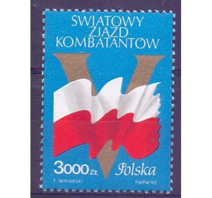 Znaczek Polska 1992 Mi 3394 Fi 3246 Czyste **