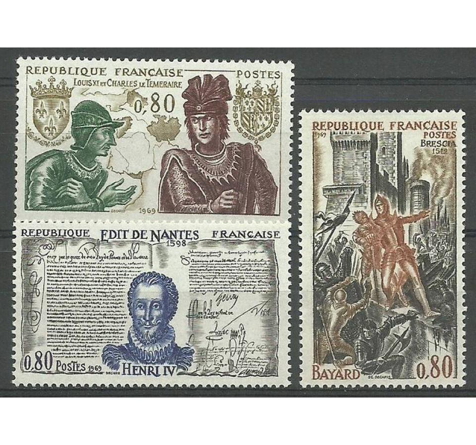 Francja 1969 Mi 1688-1690 Czyste **