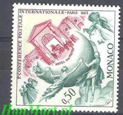 Znaczek Monako 1963 Mi 730 Czyste **