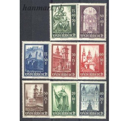 Znaczek Austria 1948 Mi 885-892 Czyste **