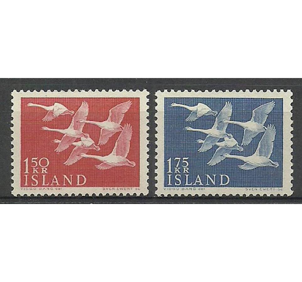 Islandia 1956 Mi 312-313 Czyste **