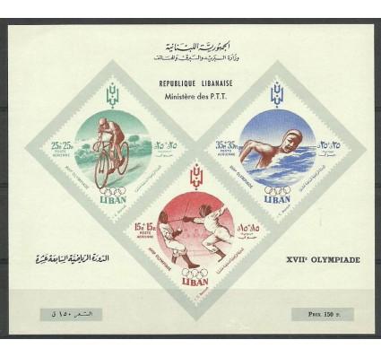 Znaczek Liban 1961 Mi bl 24 Czyste **