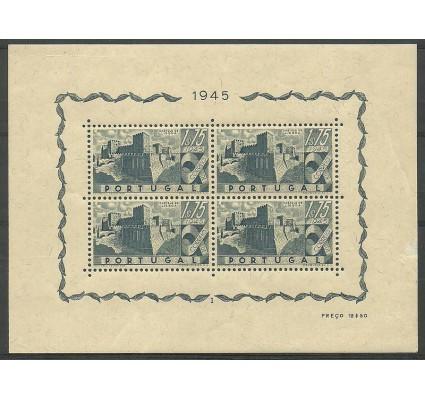 Znaczek Portugalia 1946 Mi bl 10 Z podlepką *