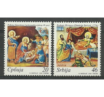 Znaczek Serbia 2008 Mi 268-269 Czyste **