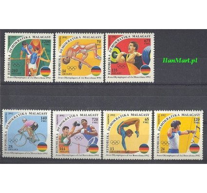 Madagaskar 1992 Mi 1374-1380 Czyste **
