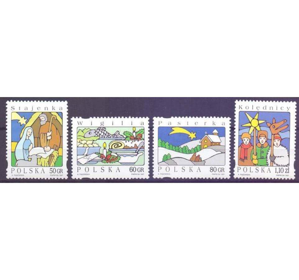 Polska 1997 Mi 3682-3685 Fi 3534-3537 Czyste **