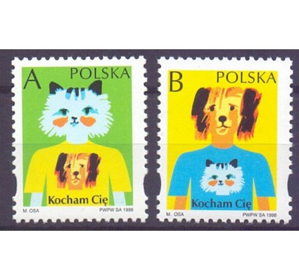 Polska 1998 Mi 3691-3692 Fi 3543-3544 Czyste **