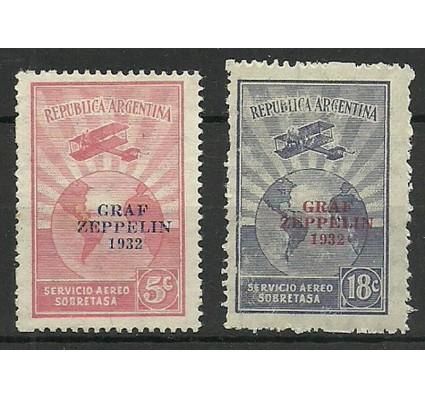 Znaczek Argentyna 1932 Mi 384-385 Z podlepką *