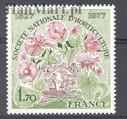 Znaczek Francja 1977 Mi 2026 Czyste **