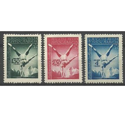 Znaczek Jugosławia 1947 Mi 524-526 Czyste **