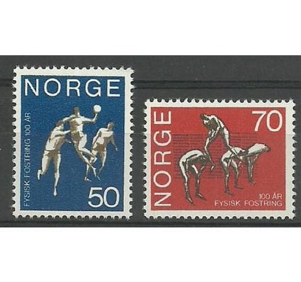 Znaczek Norwegia 1970 Mi 617-618 Czyste **