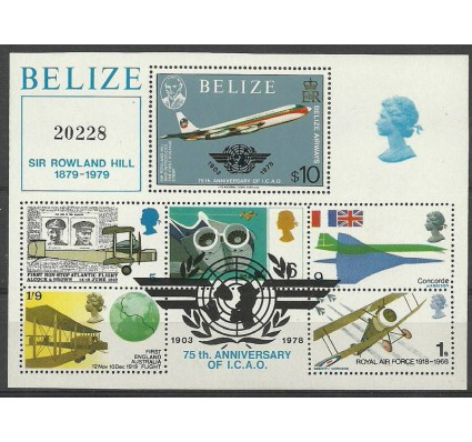 Znaczek Belize 1979 Mi bl 9 Czyste **