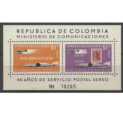 Znaczek Kolumbia 1959 Mi bl 16 Czyste **