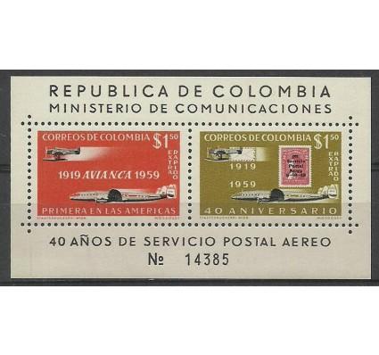 Znaczek Kolumbia 1959 Mi bl 17 Z podlepką *