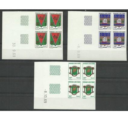 Znaczek Wybrzeże Kości Słoniowej 1969 Mi 348-350B Czyste **