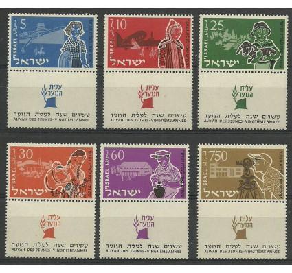 Znaczek Izrael 1955 Mi 108-113 Czyste **
