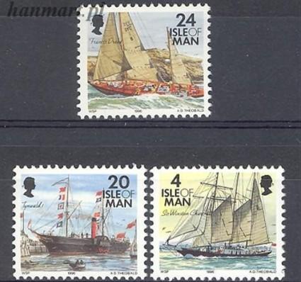 Znaczek Wyspa Man 1996 Mi 676-678 Czyste **