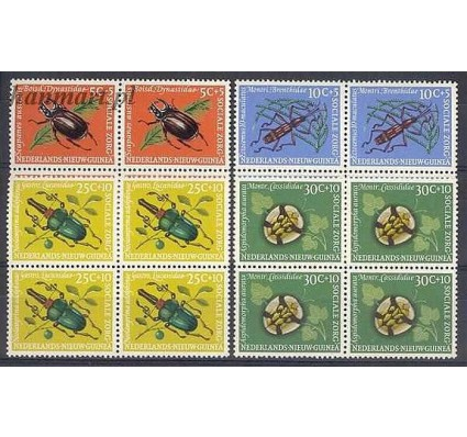 Znaczek Nowa Gwinea Holenderska 1961 Mi 69-72 Czyste **