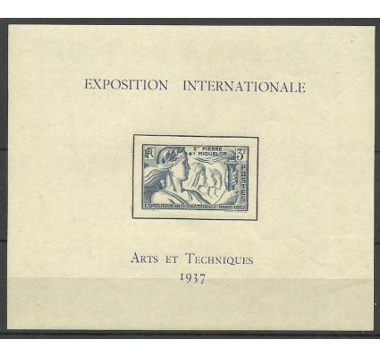 Znaczek Saint-Pierre i Miquelon 1937 Mi bl 1 Czyste **