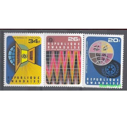 Rwanda 1975 Mi 721-723 Czyste **