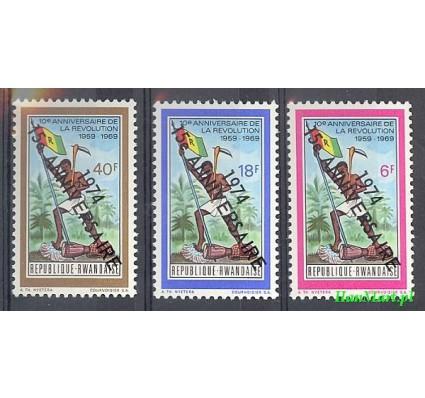 Znaczek Rwanda 1974 Mi 667-669 Czyste **