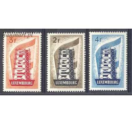 Znaczek Luksemburg 1956 Mi 555-557 Z podlepką *