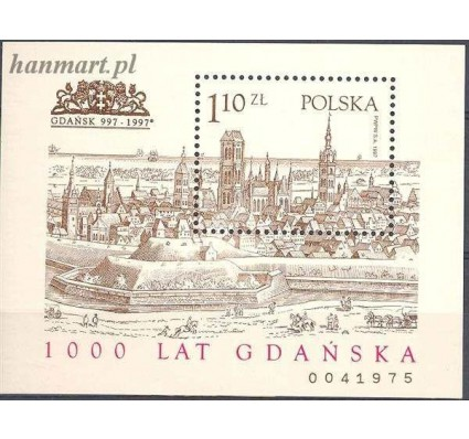 Znaczek Polska 1997 Mi bl 129 Fi bl 159B Czyste **