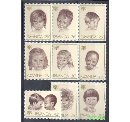 Rwanda 1979 Mi 992-1000 Czyste **