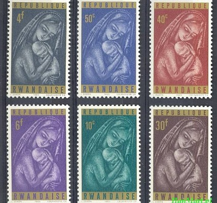 Rwanda 1965 Mi 137-142 Czyste **