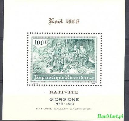 Znaczek Rwanda 1968 Mi bl 18 Czyste **
