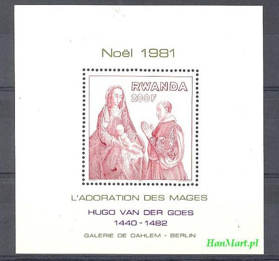 Rwanda 1981 Mi bl 95 Czyste **