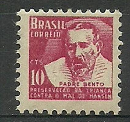 Znaczek Brazylia 1955 Mi zwa 6 Czyste **