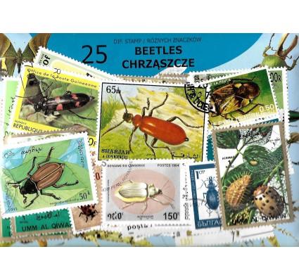 Pakiet filatelistyczny CHRZĄSZCZE 25 znaczkow