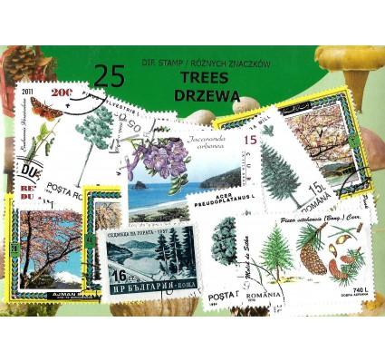 Pakiet filatelistyczny DRZEWA 25 znaczkow