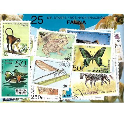 Pakiet filatelistyczny FAUNA 25 znaczkow