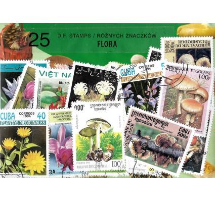 Pakiet filatelistyczny FLORA 25 znaczkow
