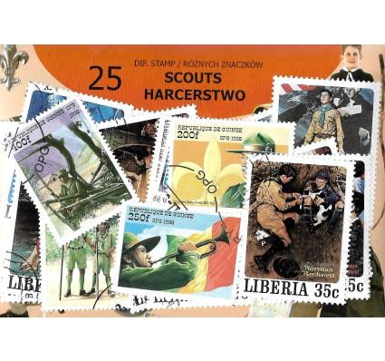 Pakiet filatelistyczny HARCERSTWO 25 znaczkow