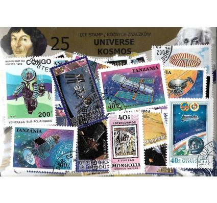 Pakiet filatelistyczny KOSMOS 25 znaczkow