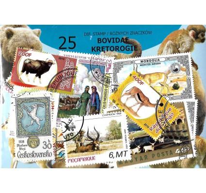 Pakiet filatelistyczny KRĘTOROGIE 25 znaczkow