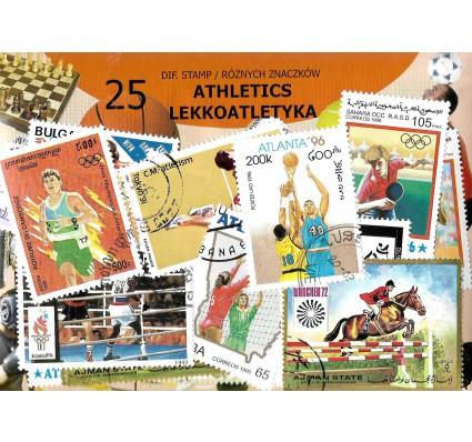 Pakiet filatelistyczny LEKKOATLETYKA 25 znaczkow