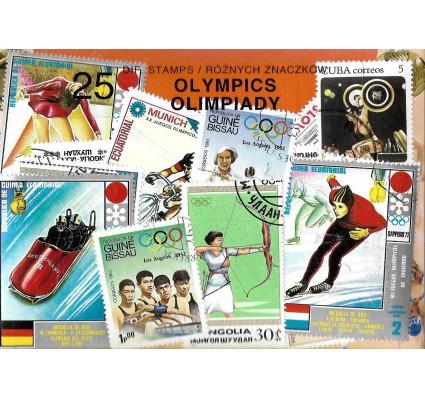 Pakiet filatelistyczny OLIMPIADY 25 znaczkow