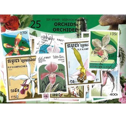 Pakiet filatelistyczny ORCHIDEE 25 znaczkow