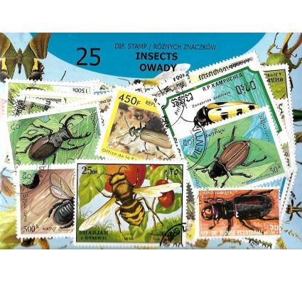 Pakiet filatelistyczny OWADY 25 znaczkow