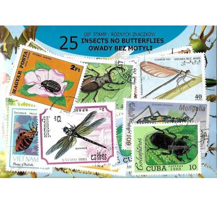 Pakiet filatelistyczny OWADY BEZ MOTYLI 25 znaczkow