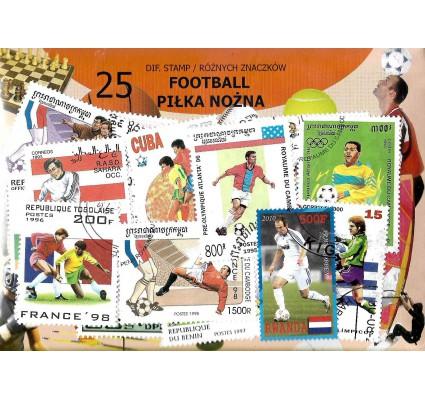 Pakiet filatelistyczny PIŁKA NOŻNA 25 znaczkow