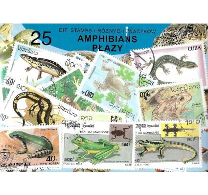 Pakiet filatelistyczny PŁAZY 25 znaczkow