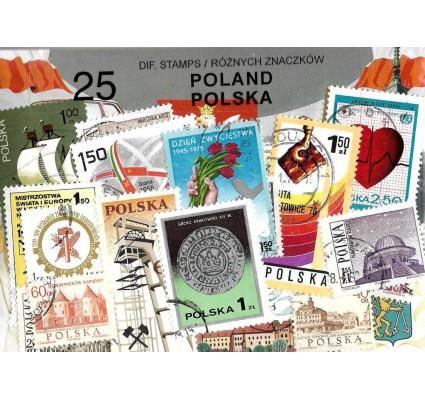 Pakiet filatelistyczny POLSKA 25 znaczkow