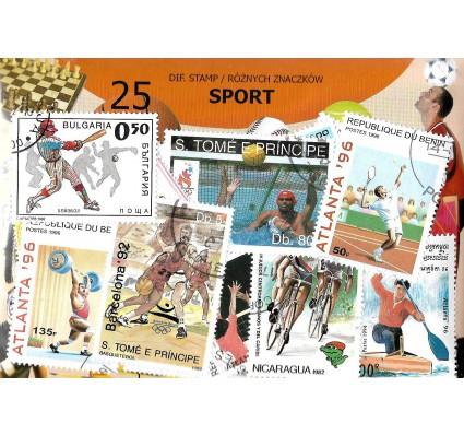 Pakiet filatelistyczny SPORT 25 znaczkow