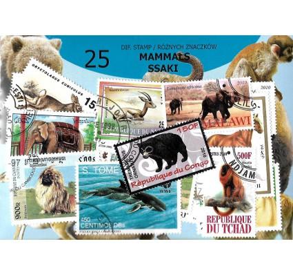 Pakiet filatelistyczny SSAKI 25 znaczkow